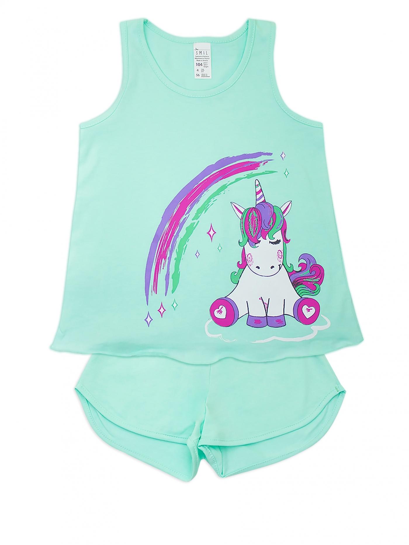 Пижама для девочки, арт. 104380, возраст от 2 до 6 лет