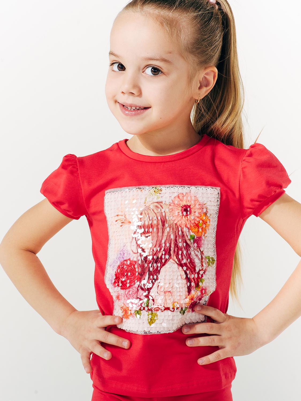 Футболка для девочки, арт.110531, возраст от 2 до 6 лет