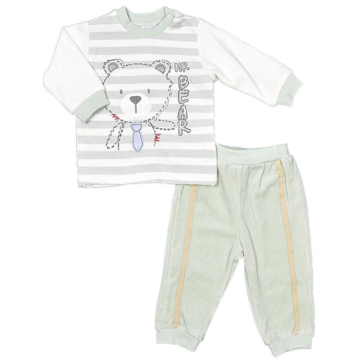 Комплект велюровый для мальчика, арт.118044 возраст от 6 до 12 месяцев