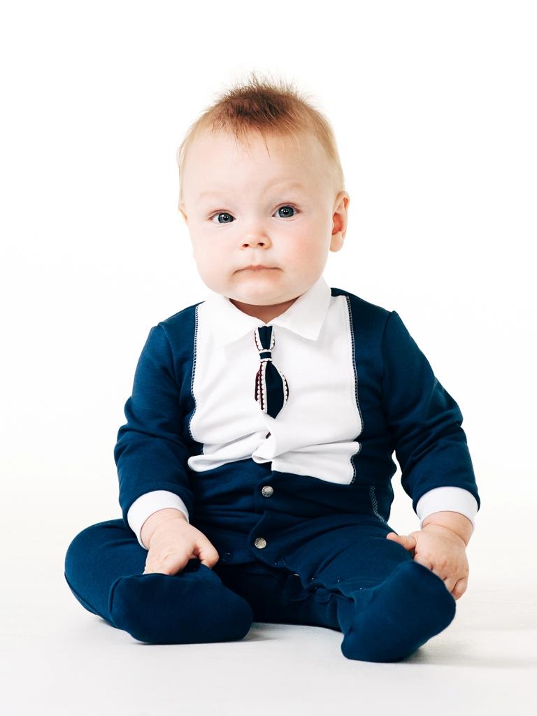 Комбинезон для мальчика, арт.122018, возраст от 0 до 3 месяцев