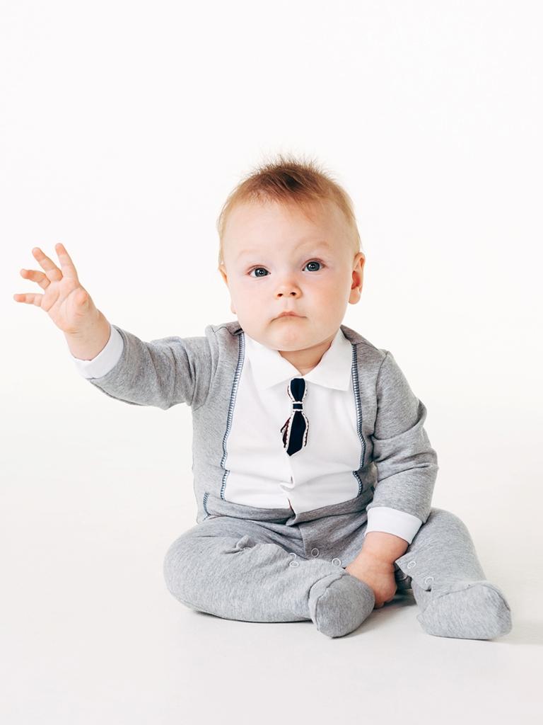 Комбинезон для мальчика, арт.122019, возраст от 6 до 9 месяцев