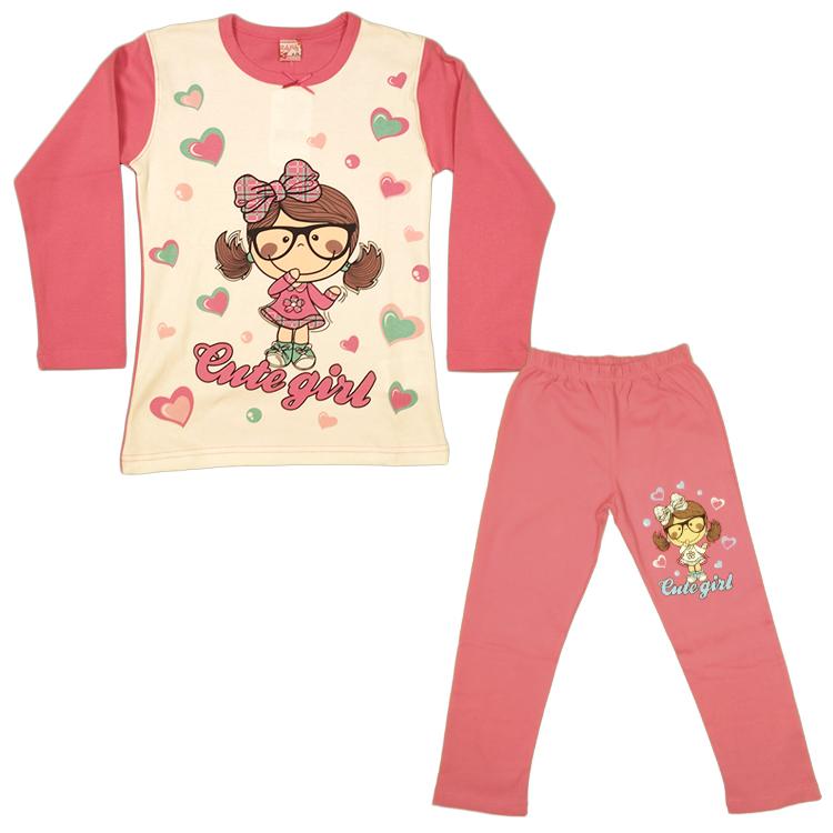 Пижама для девочки, арт.1852-2 возрас от 5 до 8 лет