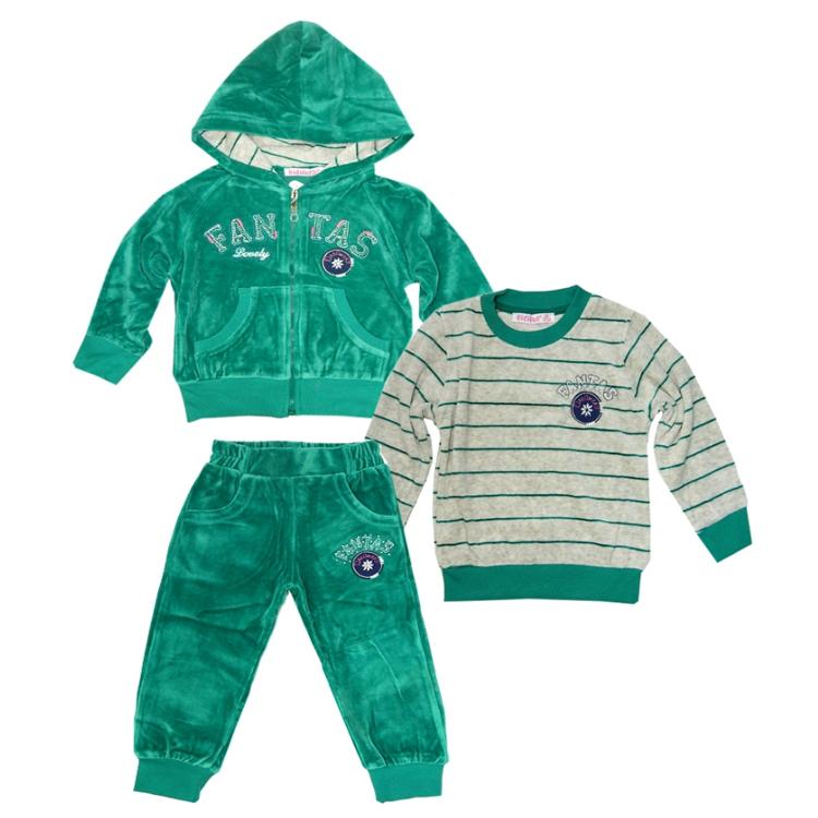 Спортивный костюм тройка для девочки, арт.425 возраст от 2 до 5 лет