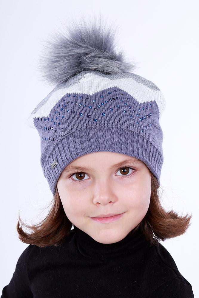 Шапка для девочки, арт. 58-582017-01, возраст от 5 до 13 лет