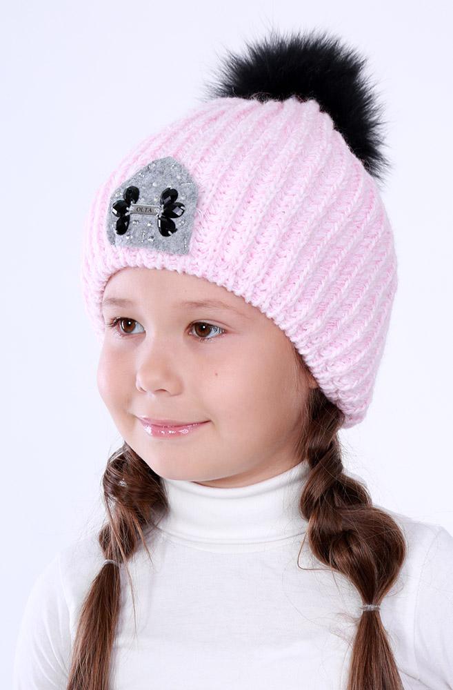 Шапка для девочки, арт. 64-642017-01, возраст от 2 до 5 лет