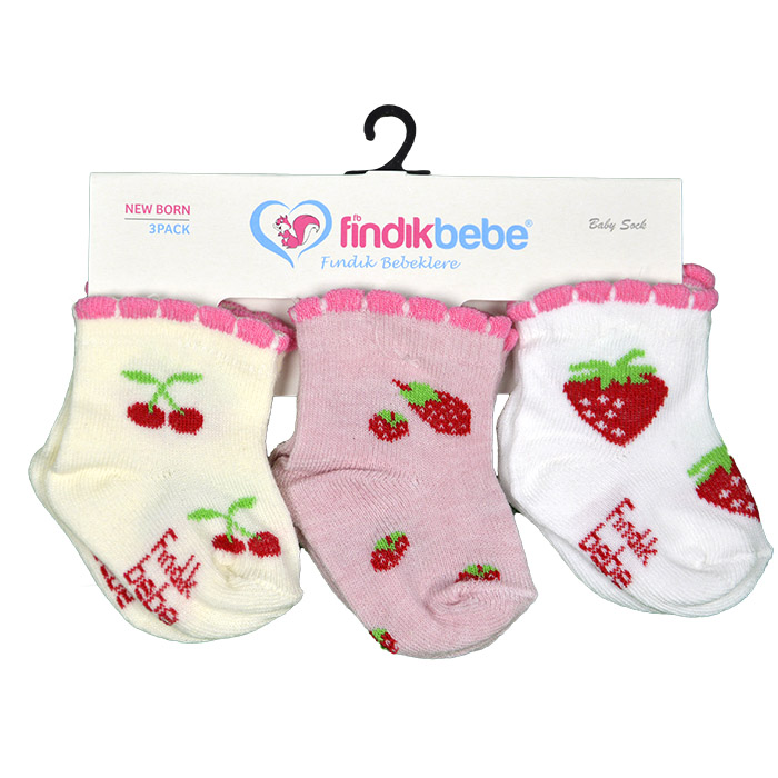 Носки для новорожденного, арт. 8067 (3 шт/ст), возраст от 0 до 3 месяцев