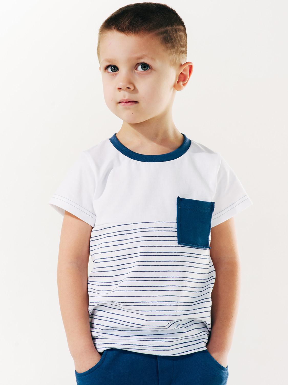 Футболка для мальчика, арт.110508-1, возраст от 7 до 10 лет