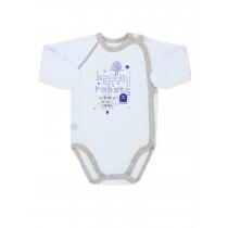 Боди-распашонка для мальчика, арт. 102447, возраст от 0 до 3 месяцев