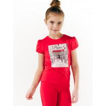 Футболка для девочки, арт.110532, возраст от 7 до 10 лет