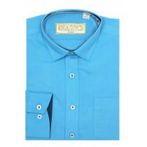 Рубашка для мальчика, арт. Blu aster 959 slim, возраст от 6 до 15 лет