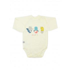 Боди-распашонка с длинным рукавом для малыша, арт. 102434, возраст от 0 до 3 месяцев