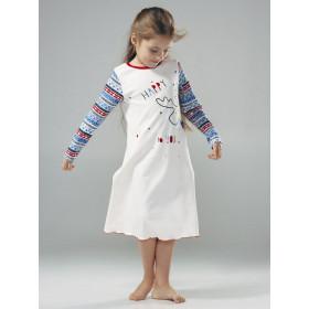 Ночная рубашка для девочки, арт. 104362, возраст от 2 до 6 лет