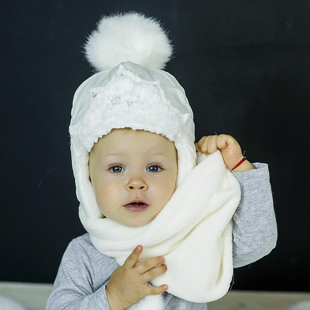Набор для девочки шапка+хомут+варежки, арт. Диана Ш, возраст от 1,5 до 3 лет