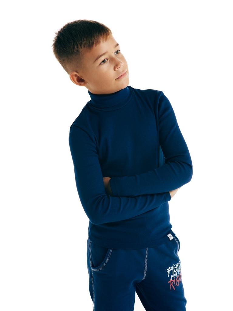 Гольф-стойка с отворотом детский, арт. 114618, возраст от 11 до 14 лет