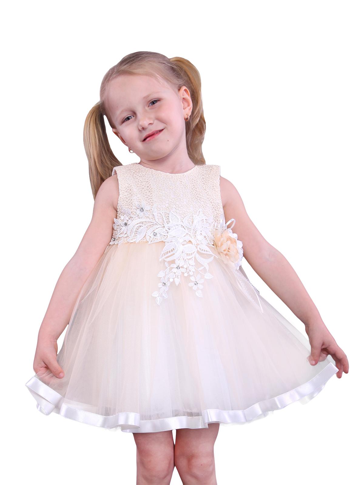 Нарядное платье для девочки арт. 1602 возраст 1 до 5 лет.