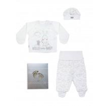 Комплект для новорожденного из 3-х предметов в коробке, арт.109907, возраст от 0 до 3 месяцев