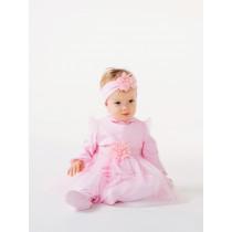 Комплект (комбинезон+туника) для девочки, арт.109967, возраст от 6 до 9 месяцев