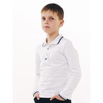 Футболка-поло для мальчика длинный рукав, арт. 114658, возраст от 15 до 16 лет