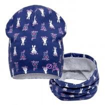 Набор для девочки (шапка+снуд), арт. 20130, возраст от 2 до 6 лет