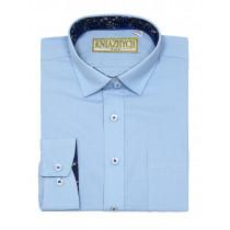 Рубашка для мальчика, арт. Bell blue79, возраст от 6 до 15 лет