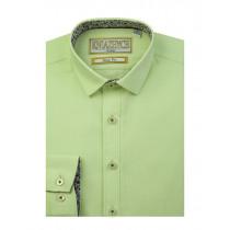 Рубашка для мальчика, арт. Lime slim, возраст от 6 до 15 лет