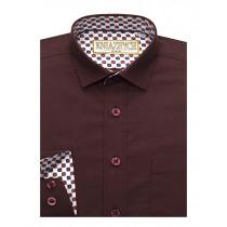 Рубашка для мальчика, арт. Maroon, возраст от 6 до 15 лет