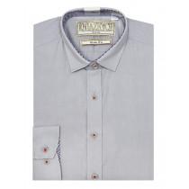 Рубашка для мальчика, арт. Pale grey slim, возраст от 6 до 15 лет