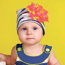 Шапка для девочки, арт. Пикола возраст от 3 до 9 месяцев