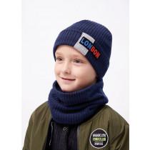 Набор для мальчика (шапка+снуд), арт. Симон, возраст от 1,5 до 6 лет