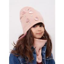 Набор для девочки (шапка+манишка), арт. Дорис, возраст от 9 до 18 месяцев