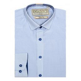 Рубашка для мальчика, арт. W 60 slim, возраст от 6 до 15 лет