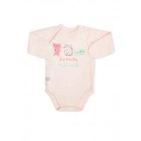 Боди-распашонка для девочки, арт. 102445, возраст от 0 до 3 месяцев