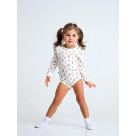 Боди - футболка с длинным рукавом для девочки, арт.102471, возраст от 6 до 18 месяцев