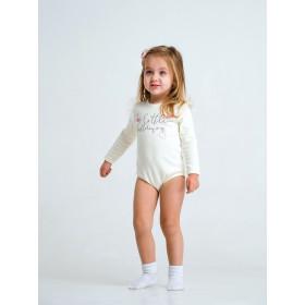 Боди - футболка с длинным рукавом для девочки, арт.102472, возраст от 6 до 18 месяцев