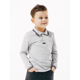 Футболка-поло для мальчика длинный рукав, арт. 114656, возраст от 6 до 10 лет