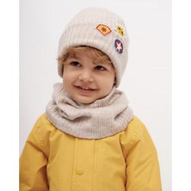 Набор для мальчика (шапка+снуд), арт. Брикс, возраст от 1 до 3 лет