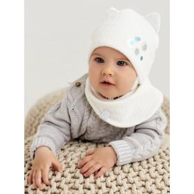 Набір для дівчинки (шапка+манишка), арт.Лілі, від 6 до 12 місяців