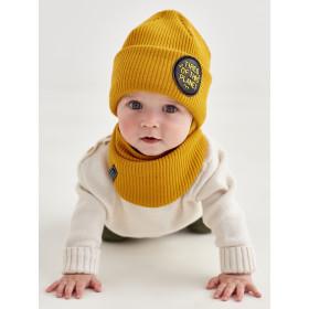 Набір для хлопчика (шапка+манишка), арт.Райлі, від 6 до 12 місяців