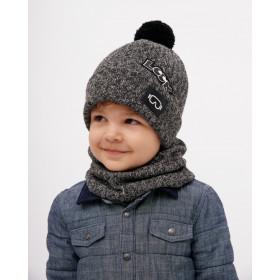 Набор для мальчика (шапка+снуд), арт. Ричард, возраст от 1 до 3 лет