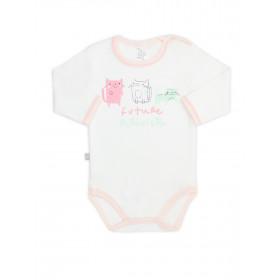 Боди-футболка для девочки, арт. 102446, возраст от 6 до 18 месяцев