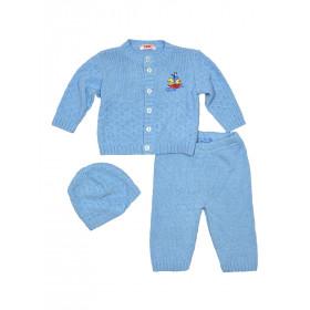 Комплект (кофта+штанишки+шапка) для малыша, арт. 15121001, возраст от 0 до 9 месяцев