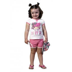 Футболка + шорты для девочки, арт. 82071 возраст от 1 до 4 лет