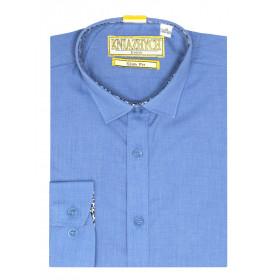 Рубашка для мальчика, арт. Ocean slim, возраст от 6 до 15 лет