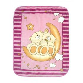 Одеяло детское велюр, арт.мишка размер 100*100